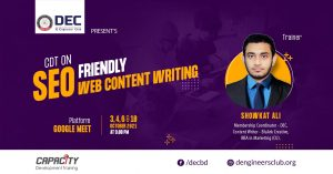 CDT On SEO Friendly Web Content Writing